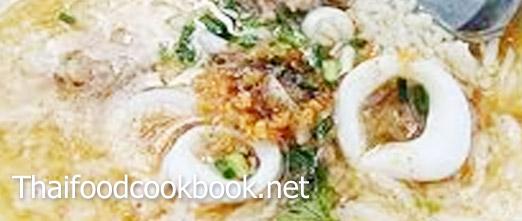 วิธีทำเมนูข้าวต้มปลาหมึก